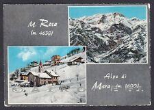VERCELLI SCOPELLO 66 VALSESIA MERA MONTE ROSA - VEDUTINE Cartolina viagg. 1963