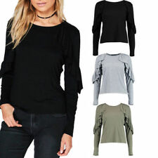 Polyester Casual Tops & Shirts for Women with Pleated