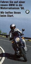 BMW Motorrad Leasing Prospekt 1986 R 65 K 75 C brochure Folder moto Broschüre