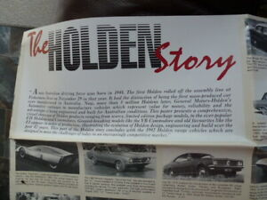 HOLDEN HISTORY   RARE POSTER