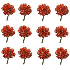 Craft Flowers -12mm Qty x 144 Mini Mulberry Paper Rose - Teracotta