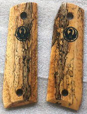 RUGER 22/45 MKIII SPALTED BRAZILIAN CHERRY GRIPS WITH LASER DESIGN RM-51 NICE!!