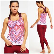 NWT PrAna Phoebe Tank Top Fireball Firefly Athletic Workout Yoga Womens S Small