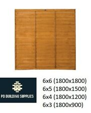More details for lap panel fencing overlap treated 6x6/6x5/6x4/6x3 fast delivery garden fence