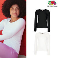 Women's Lady-fit Crew Neck Long Sleeve Tee -Fruit of the Loom fitted casual Top
