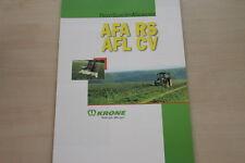 157393) Krone Scheibenmähwerk AFA RS AFL CV Prospekt 2001