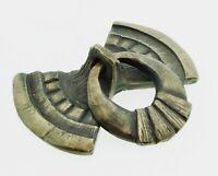 Shidoni Tesuque New Mexico Foundry Bronze Bow Draw Pull Handmade By Crick 2003