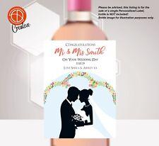 PERSONALISED Wedding Bottle LABEL UNIQUE GIFTS Congratulations Bride & Groom