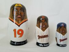 Tony Gwynn San Diego Padres Babooshkah Russian Nesting wood Doll Set Collector's