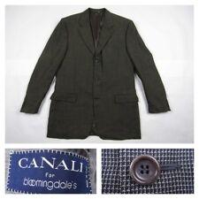 Canali Mens Brown 42L Checks Brown Sport Coat Blazer Jacket Italy Luxury
