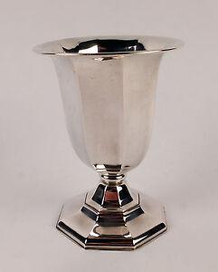 Splendid German Art Deco Solid Silver Vase or Beaker c1920/25