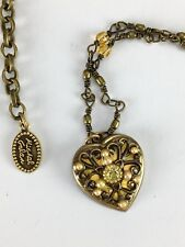 Michal Golan 24k Gold Yellow Heart Necklace Valentines day Handmade