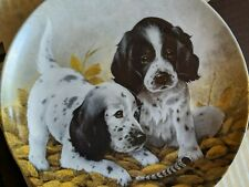 "Beautiful Decorative Plate Dogs ""The English Setters"" #152"