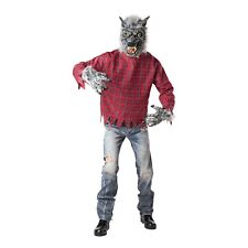 Totally Ghoul Men Grey Wolf Halloween Costume - OSFM New