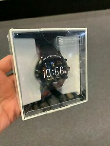 NEW! Fossil Gen 5 Carlyle Smartwatch Stainless Steel Black Silicone Band FTW4025