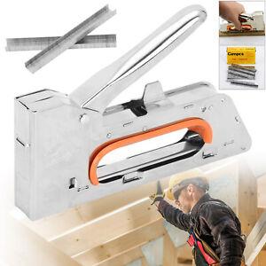 Heavy Duty Tacker Staple Gun 4/6/8mm Upholstery Stapler With 2500 x Staples UK