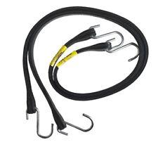 "10pc Rubber Tie Down Strap 530mm (21""), Black Jockey Rope"