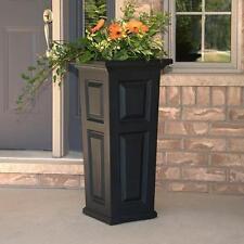 "New Mayne Nantucket 32"" Tall Outdoor Patio & Sidewalk Flower Planter - Black"