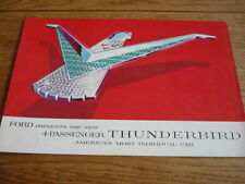 FORD THUNDERBIRD, 1958 CAR BROCHURE jm
