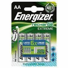 Energizer AA 2300 mAh Rechargeable Batteries Extreme Pre Charged Pack of 4