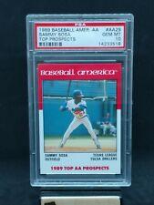 1989 Baseball America AA Top Prospects #29 Sammy Sosa Rookie RC PSA 10 GEM MINT