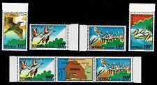 SENEGAL - 1986 BIRDS - Sc#751/756 - MNH - E 2136