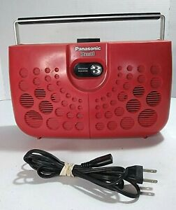 Vintage Panasonic MODEL RS-833S 8 Track Tape Player Space Age Red Swiss Cheese