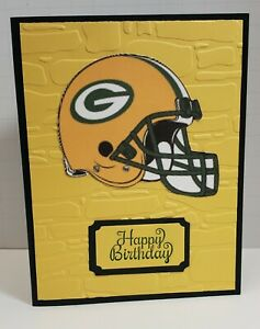 Handcrafted Greeting Card- Happy Birthday - Green Bay Packer Theme - Football