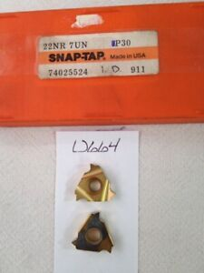 6 NEW SNAP-TAP 22NR 7UN THREADING CARBIDE INSERTS GR: P30 FACTORY PACK -U664-