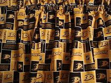 "Anaheim Ducks Block Style Hockey Sports Handmade Valance 40"" x 13"""