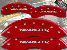 "2008-2012 Jeep Liberty Front + Rear ""Wrangler"" Red MGP Brake Disc Caliper Covers"