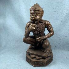 "10"" Statue 4 EARS 5 EYES Thai Buddha Amulet Holy Charm Lucky gambling talisman"