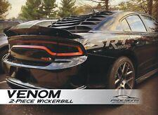 2 Piece 2015-21 Dodge Charger Rear Wicker Bill wickerbill Spoiler w/ RIVNUT TOOL