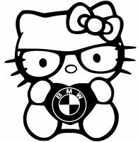 BMW  HELLO KITTY vinyl car window decal sticker 13 COLORS