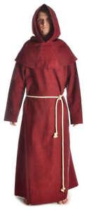 Mittelalter Mönchskutte Mönchsrobe rot Baumwolle zweiteilig Halloweenkostüm LARP