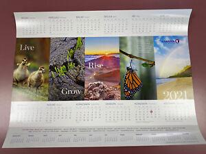 2021 Hawaiian Airlines Wall Desk Calendar Poster 25 x 19 in