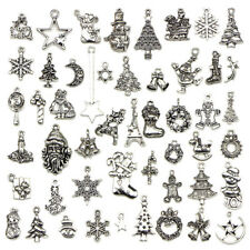 50X Bulk Lots Tibetan Silver Mix Christmas Pendants Charms Jewelry Making M&R