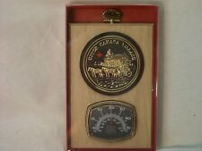Upper Canada Village Bronze Medallion w/ Thermometer Oak Plaque