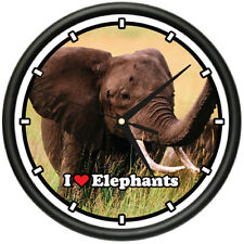 ELEPHANT Wall Clock elephants animal zoo african gift