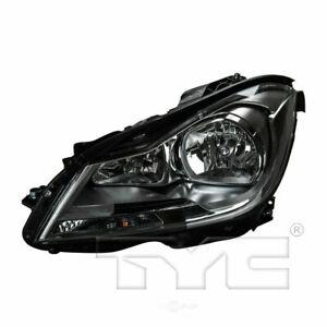 TYC Left Driver Side Halogen Headlight for Mercedes Benz C Class Sedan 2012-2014