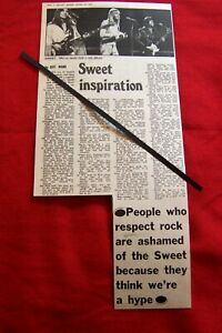 THE SWEET 1973 ORIGINAL VINTAGE PHOTO PRESS ARTICLE INTERVIEW CLIPPING CUTTING