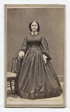 CDV CIVIL WAR ERA. WOMAN HIGH BEAMIN 19 CENTURY NIPPLES.
