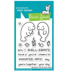 Lawn Fawn Lawn Cuts Stamps Coaster Manatee-rific LF1688