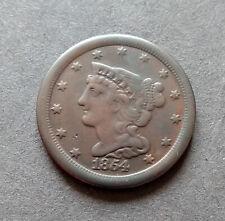 1854 Braided Hair Half Cent USA