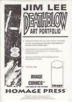 JIM LEE DEATHBLOW ART PORTFOLIO #79/5000 1993 STILL SEALED HOMAGE STUDIOS
