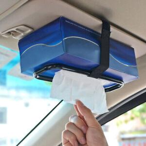 Car Tissue Holder  Auto Elastic Belt Sun Visor Napkin Box  Back Seat Rack Paper