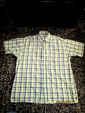 Men's WRANGLER HERO Plaid Checkered Short Sleeve Oxford Collar Shirt 2XL WPL6428