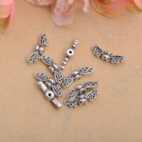 50Pcs Tibetan Silver Wings Charm Bracelet Spacer Beads Jewelry Findings #225