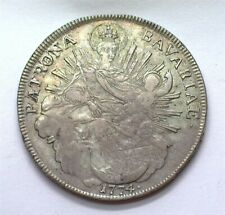 BAVARIA 1774-A SILVER TALER MADONNA & CHILD EXTREMELY FINE +