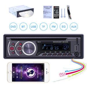 Car DVD CD Player Single 1 Din USB/AUX/TF FM Radio Bluetooth Stereo MP3 In-dash